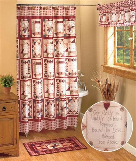 inspirational shower curtain sets linda spivey 19 pcs set inspirational patch shower curtain