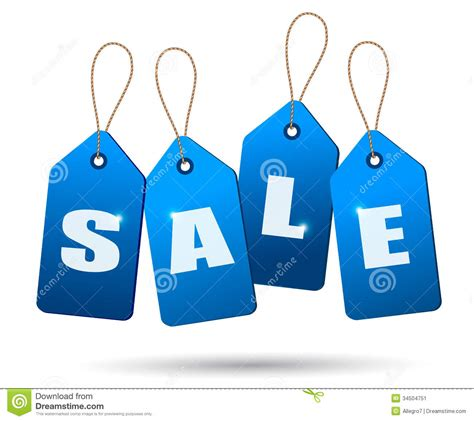 Blue For Sale by Blue Sale Tags Concept Of Discount Shopping Stock Image