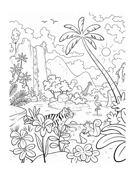 coloring pictures of flowers and trees best coloring page for kids drawing coloring painting