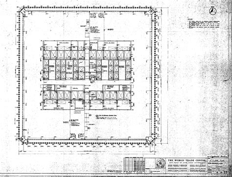 world trade center floor plan world trade center north tower blueprints public