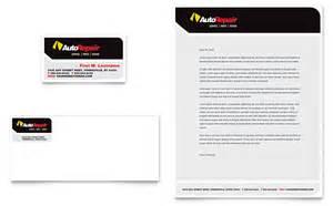 auto repair business card amp letterhead template design