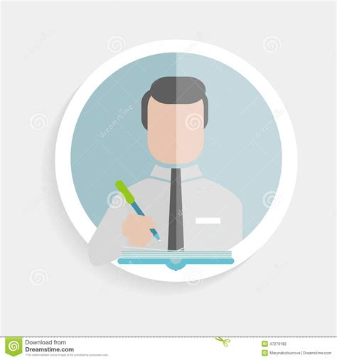 icon design research vector round icon successful man stock vector image