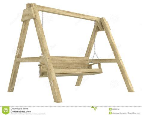 swing seat plans wooden garden swing bench stock photo image 26680160