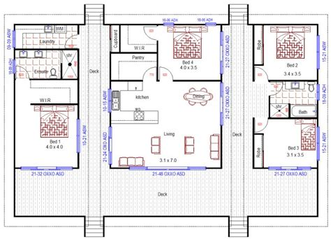 4 Bedroom House Designs Australia Australian House Floor Plans 4 Bedroom Home Design For Sloping Land