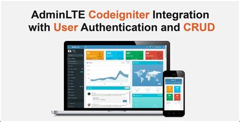 codeigniter tutorial authentication codeigniter with adminlte integration login authentication