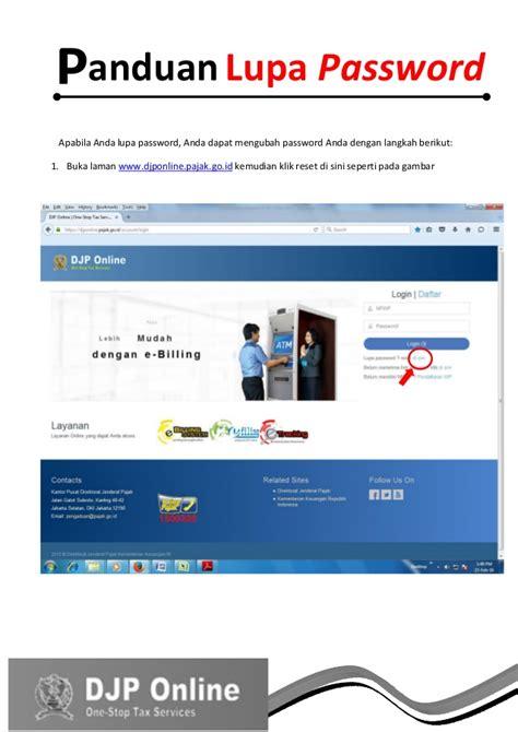 panduan membuat npwp online panduan e filing spt tahunan elektronik