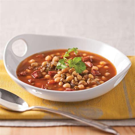 cuisine des lentilles soupe de lentilles pois chiches et chorizo recettes