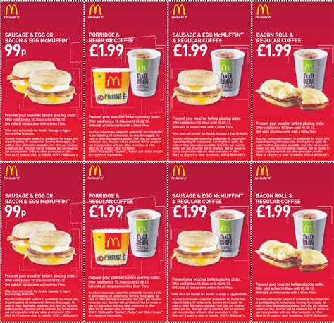 mcdonalds printable vouchers uk 2015 printable mcdonalds menu search results calendar 2015