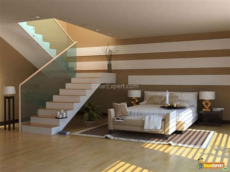 Bedroom Stairs Modern Bedroom With Stairs Gharexpert