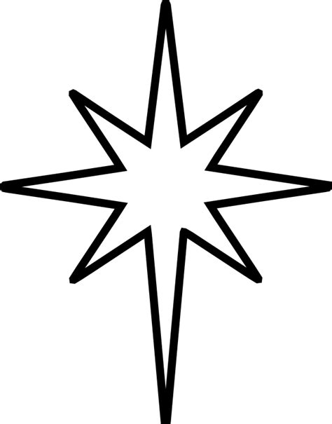 how to make star of bethlehem clip black and white the nativity is the symbol of the of