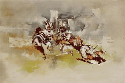 Sports Duvet Covers Rugby Painting By Corporate Art Task Force