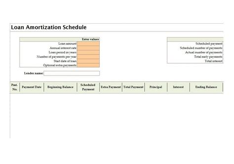 5 loan amortization schedule calculators microsoft and open