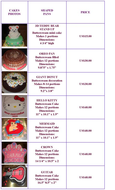torten preise www sweetsusy cakes shaped buttercream pricing