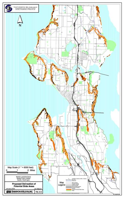 seattle landslide map landslide and seattle geologywriter