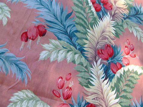 tropical print upholstery fabric barkcloth bark cloth tropical print print fabric vat