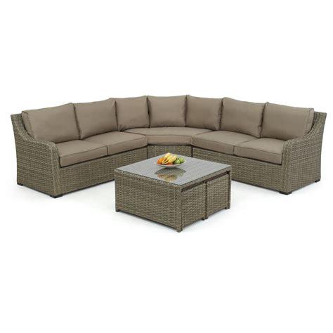 rattan sectional maze rattan milan 7 seater sectional sofa set with