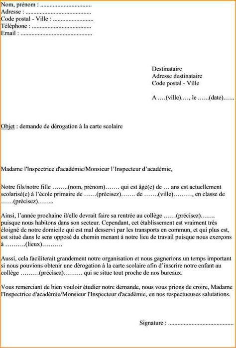 Demande De Dérogation Lettre Type 4 Lettre De D 233 Rogation Lettre De Demission