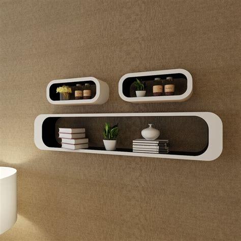mensole nere articoli per 3 mensole per pareti bianche nere mdf per