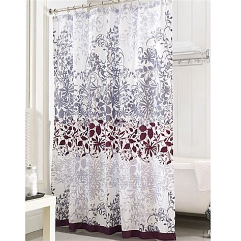 purple and gray shower curtain enchanted purple 72 inch x 72 inch shower curtain bed