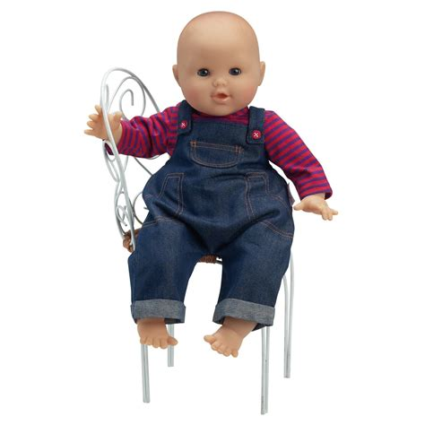 Denim Babby Doll corolle denim overalls set for 17 inch baby doll w90430