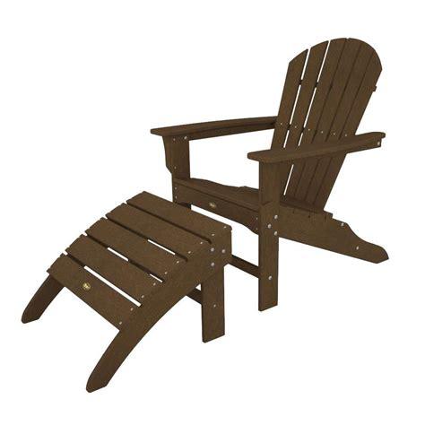 Trex Outdoor Furniture Cape Cod Classic White Patio Adirondack Patio Chair