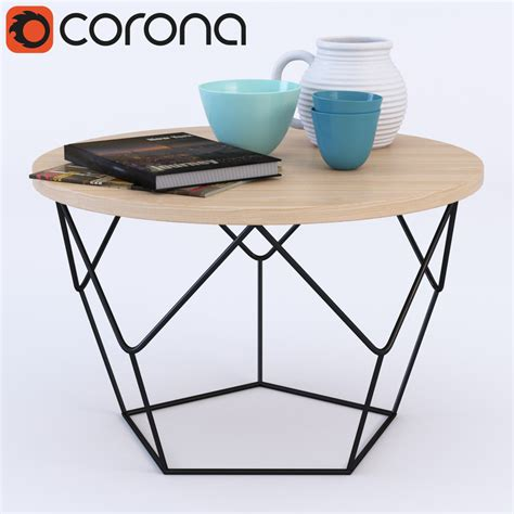 Origami Coffee Table - 3d corona render