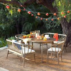After dusk a summer patio party is just begging for string lights