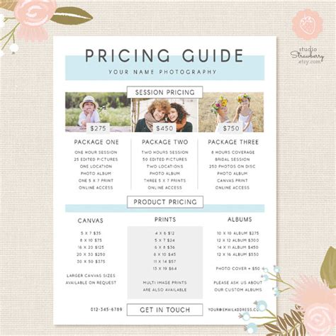 wedding photography pricing template photography pricing template pricing guide template pricing