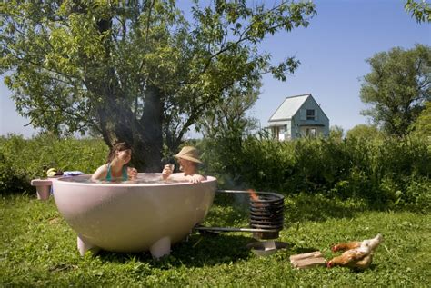 Outdoor Bathtub Wood Fired by Dutchtub Wood Fired Tub Shtf Prepping Homesteading Central