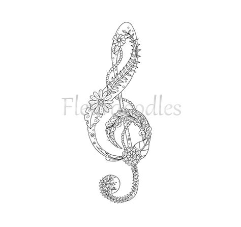music mandala coloring pages adult coloring page treble clef music colouring pages