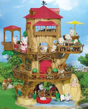 Sylfanian Tree House sylvanian families at stop shop oak hollow treehouse
