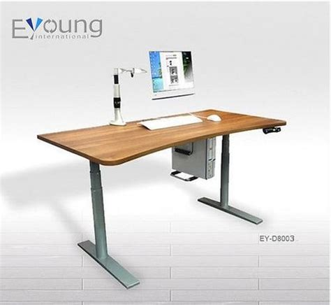 Sit Stand Height Adjustable Computer Desk Ey D8003 In Height Adjustable Desk India