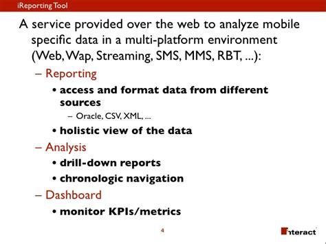 mobile vas i reporting tool dashboard for mobile vas