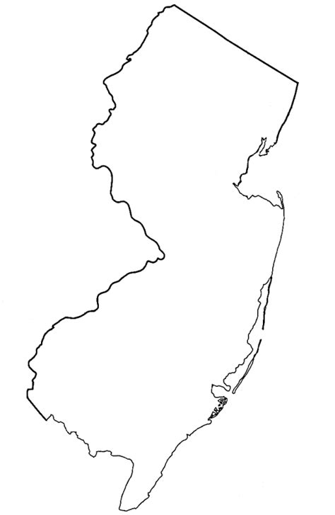 New Jersey State Map Outline new jersey state outline