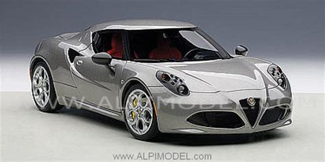 Pi Romeo Grey auto alfa romeo 4c 2013 grigio basalto 1 18 1 18