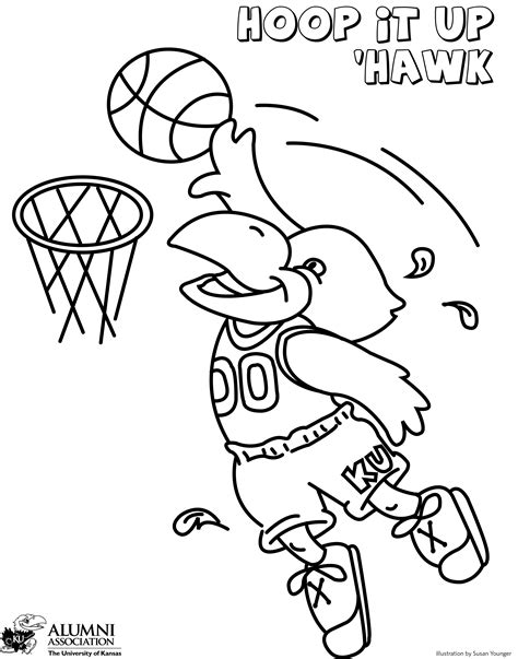 Ku Basketball Coloring Pages | ku coloring pages coloring home