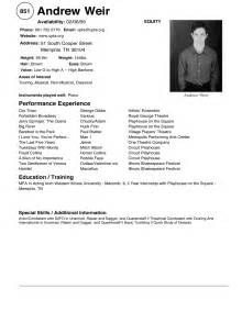 theatre resume sample 104 latest resume format