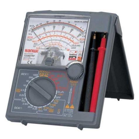 Multimeter Analog Merk Sanwa analog multimeter sanwa yx360trf digiware store