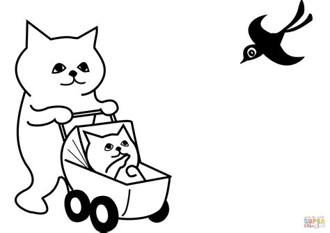 mother cat coloring page 88 color the mommy cat and kittens color the mommy cat