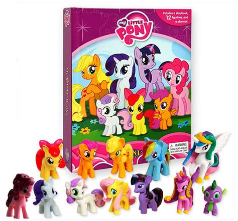 Buku Anak My Busy Book Disney Whisker Tales my busy book my pony includes a storybook 12 disney figurines and a playmat