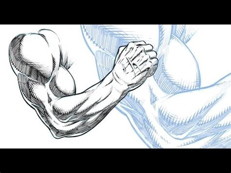 sketchbook pro how to shade drawing and shading a muscular arm comic book style