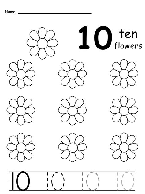 printable numbers to ten free number 10 worksheets activity shelter