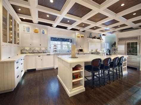 Ceiling In Kitchen by World Charm Design For The Space Above Coffered Ceilings