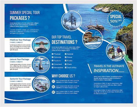 travel brochure template word various high professional templates