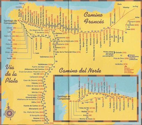 camino trail map camino de santiago maps camino frances map