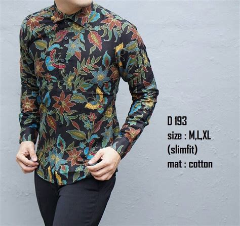 Kemeja Batik D 514 Slimfit Lengan Panjang Moderen jual beli kemeja batik pria lengan panjang slim fit