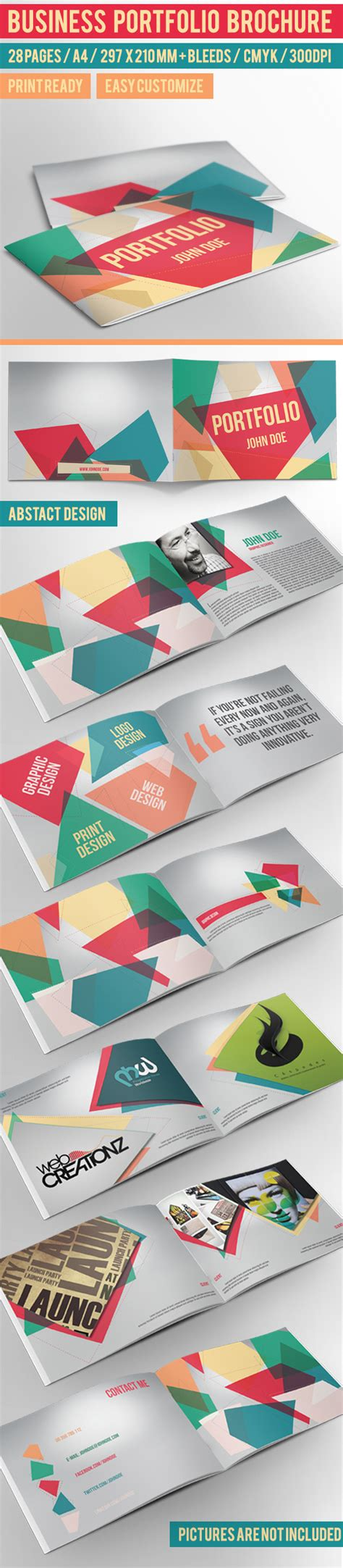 portfolio brochure template business portfolio brochure indesign template on behance