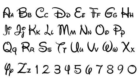 disney cursive font pictures to pin on pinterest pinsdaddy disney alphabet by disneyclassicfan97 disneyland