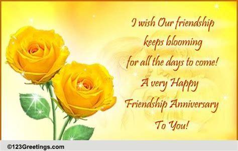 Happy Friendship Anniversary! Free Happy Anniversary
