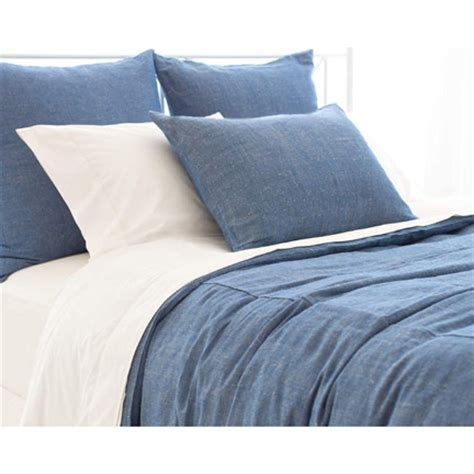 pine cone hill malaya chambray bedding sham pillowcase